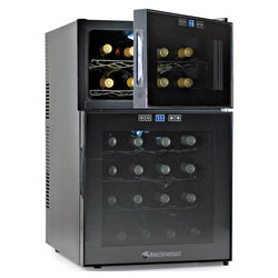 Dual-Temperature Wine Refrigerator with Touchscreen