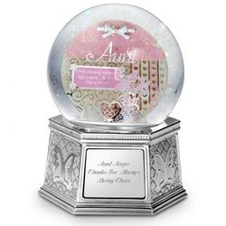 Aunt Shadowbox Musical Snow Globe