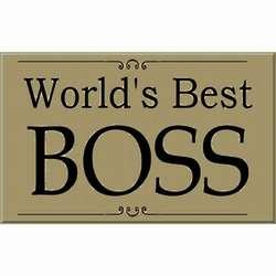 World's Best Boss Sign