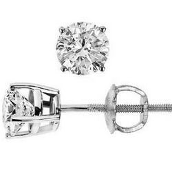 1.00 Ct. H SI2 Round Diamond Stud Earrings