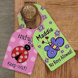 Personalized Door Knob Hanger for Girl's Bedroom
