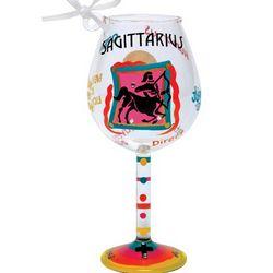 Sagittarius Mini Wine Glass Ornament
