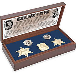 Five Old West Replica Badges in Presentation Box