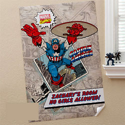Personalized Marvel Comics Superhero Poster