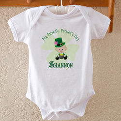 Personalized First St. Patrick's Day Baby Bodysuit