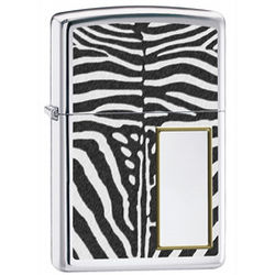 Zebra Print Personalized Zippo Lighter