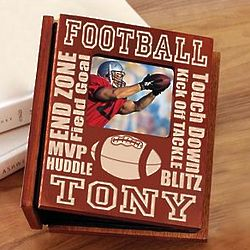Personalized Wood Football Photo Album