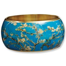 Van Gogh Almond Blossoms Brass Bangle