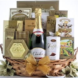 Festive New Year's Wishes Champagne Gift Basket