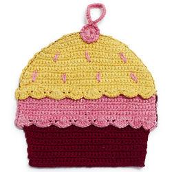 Pink Cupcake Crochet Pot Holder