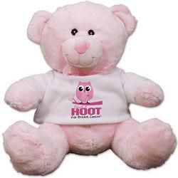 Give a Hoot Breast Cancer Awareness Teddy Bear