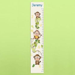 Barrel of Monkeys Children's Personalized Height Chart