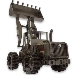 Rustic Payloader Upcycled Auto Parts Statuette