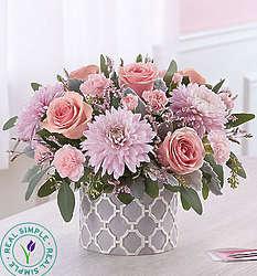 Sincere Sentiment Pink and Lavender Floral Bouquet