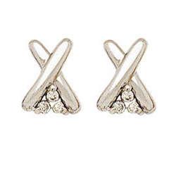 "White-Hot Diamond "" X "" Earrings"