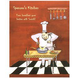 Personalized Breakfast Chef Fine Art Print