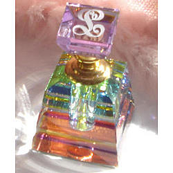 Monogrammed Rainbow Crystal Perfume Bottle