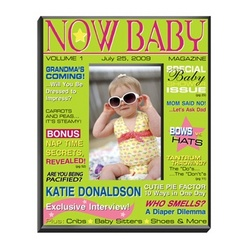 Personalized 'Now' Baby Girl Magazine Picture Frame