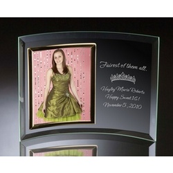 Fairest of Them All Curved Glass Vertical 5x7 Photo Frame