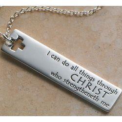14K Gold Philippians 4:13 necklace