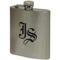 Laser Engraved Stainless Steel Flask