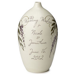 Personalized Handmade Wedding Wish Vase