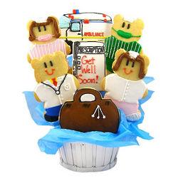 Doctors and Nurses Get Well Sugar Cookie Basket
