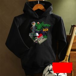 Kid's Personalized Comics Superhero Black Sweatshirt