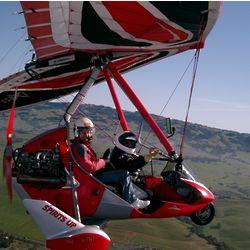 Trike Gliding Over Sonoma Valley