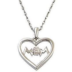 Personalized Mom Heart Pendant with Diamond