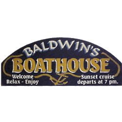 Boathouse Personalized Nautical Sign