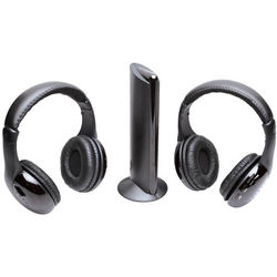 Wireless Two-Pack FM/Radio Headphones and Transmitter
