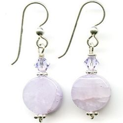 Artisan Lavender Jade Earrings