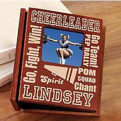 Personalized Wood Cheerleader Photo Album
