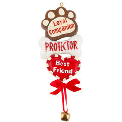 Companion, Protector, Friend Dog Ornament