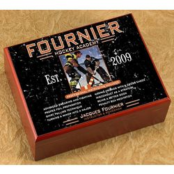 Hockey Academy Personalized Humidor