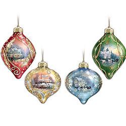 Thomas Kinkade Glass Ornaments