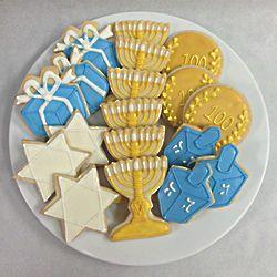 Hanukkah Sugar Cookies in Tin