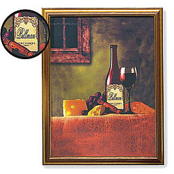 Personalized Wine Bottle Canvas