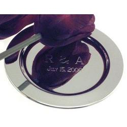 Engraved Silver Plated Mini-Charger Trays