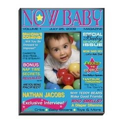 Personalized 'Now' Baby Boy Magazine Picture Frame
