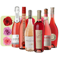 Half Dozen Roses Wine Set