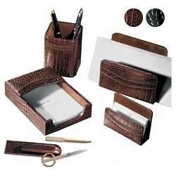 Crocodile Leather Accessory Set