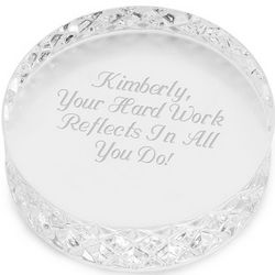 Engravable Round Waterford Paperweight