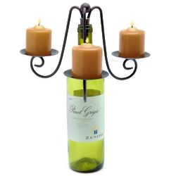 Verona Triple Pillar Wine Bottle Candelabra