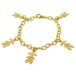 18K Gold-Plated Engraved Mother's Bracelet