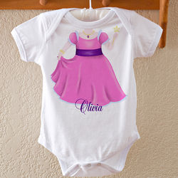 Personalized Princess or Ballerina Baby Bodysuit