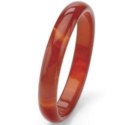 """9"""" Red Jade Bangle Bracelet"""