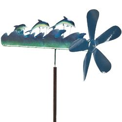 Large Dolphin Recycled Metal Whirligig