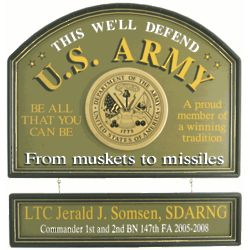 Personalized US Army This We'll Defend Sign
